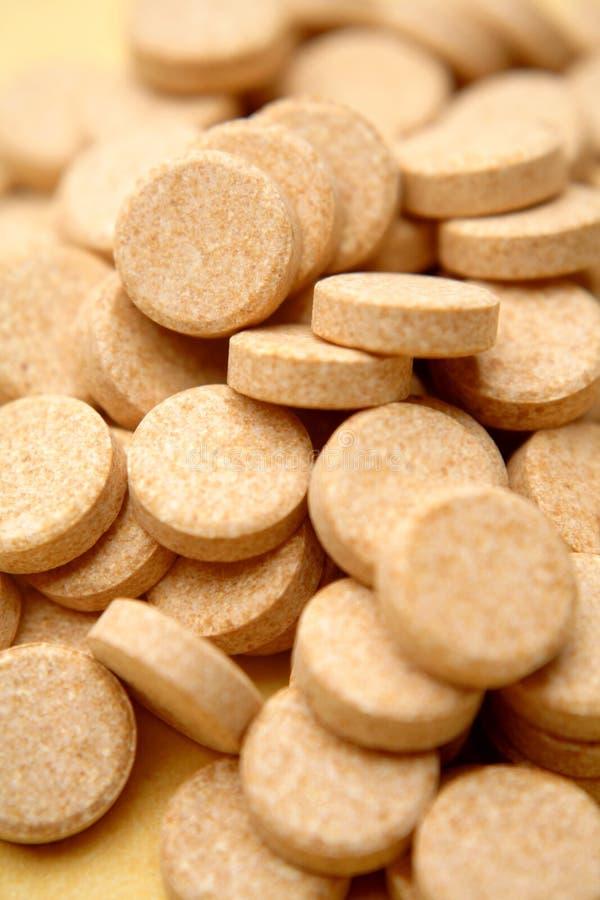 c marque sur tablette la vitamine image stock