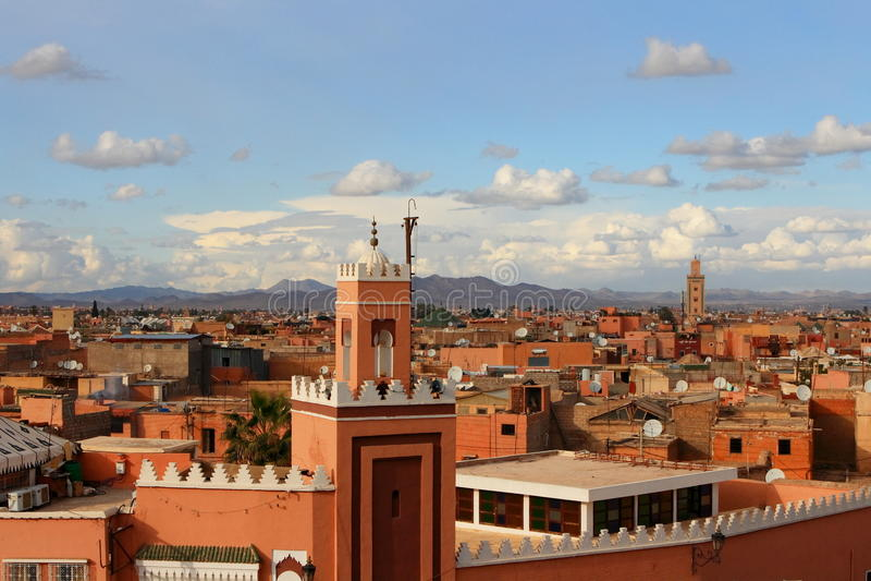 C4marraquexe em Marrocos fotos de stock royalty free