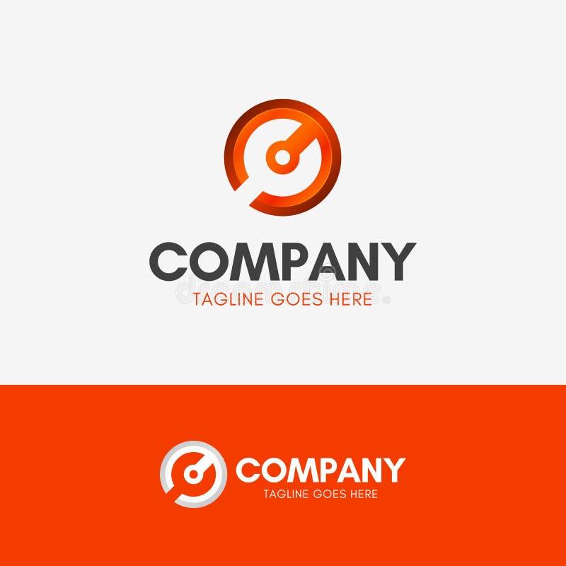 C Mechanisch Wrench Logo stock illustratie