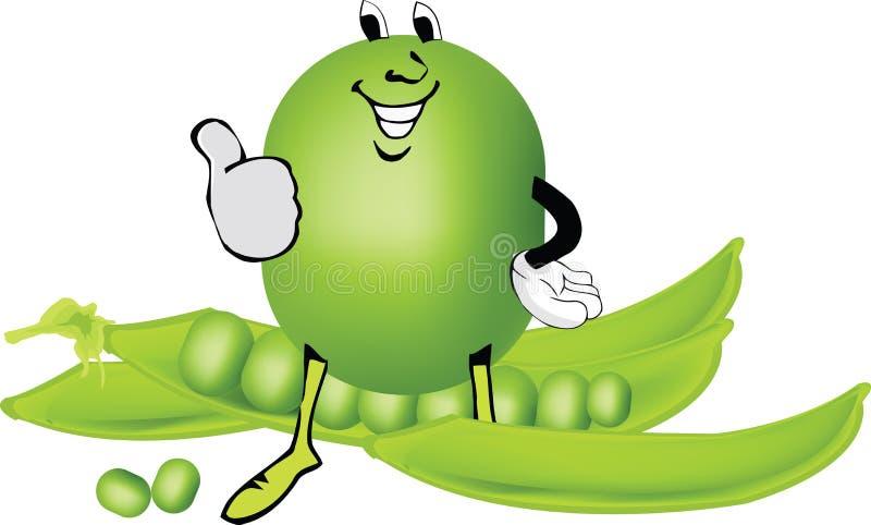Cômico engraçado dos vegetais ilustração royalty free