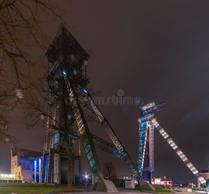 C-mijn, Steenkoolmijn van Winterslag stock foto's