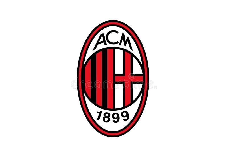 C.A. Milan Logo ilustração royalty free