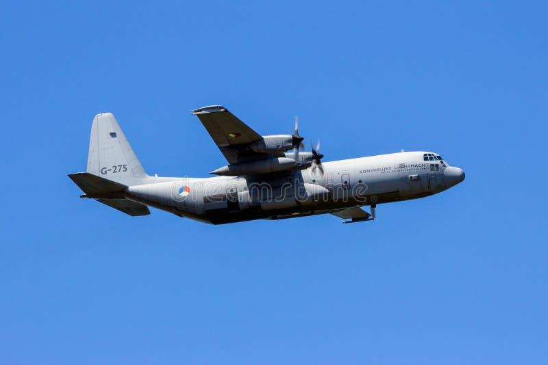 C130 militair het vervoervliegtuig van hercules stock fotografie