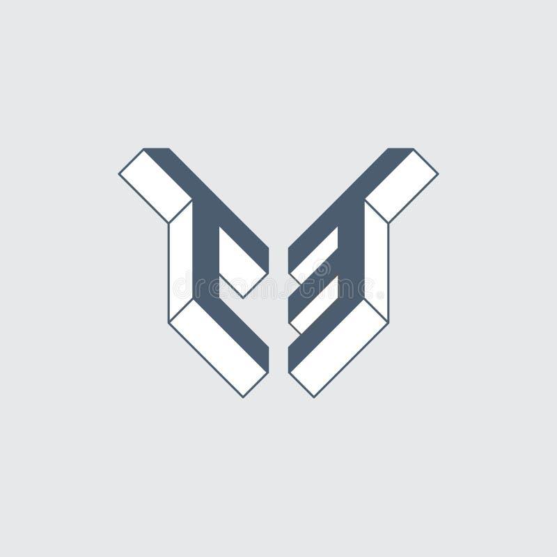 C3 - Monogram Or Logotype. Isometric 3d Font For Design ...