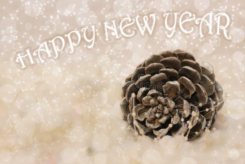 Cône de cèdre de nouvelle année et de Noël photo stock
