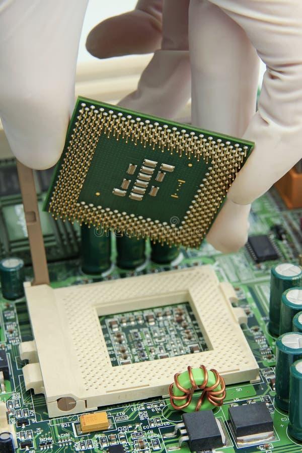 C.P.U. компьютера стоковое фото