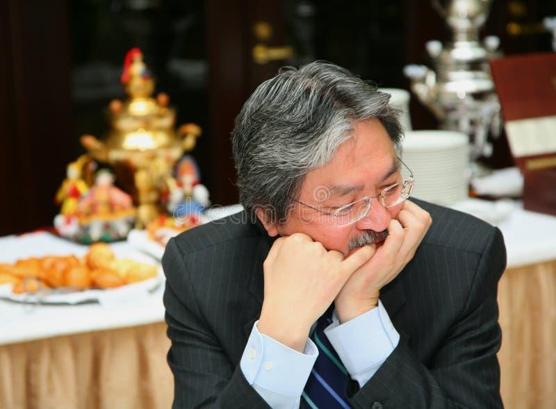 C Pieniężny Hong John Kong Sekretarki Spec Tsang Fotografia Editorial