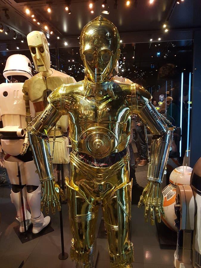 C3PO von Star Wars stockbilder