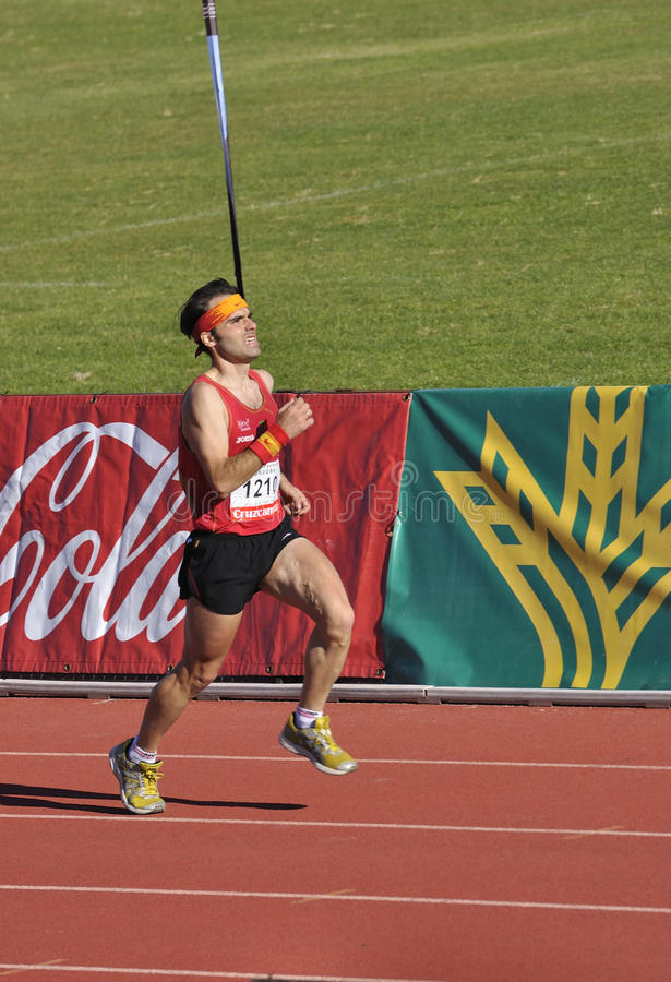 c przyrodni maratonu rdoba biegacz niezidentyfikowany obrazy stock