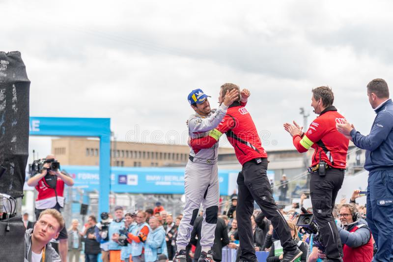 C?r?monie de remise des prix 2019 de championnat d'ABB FIA Formula E images stock