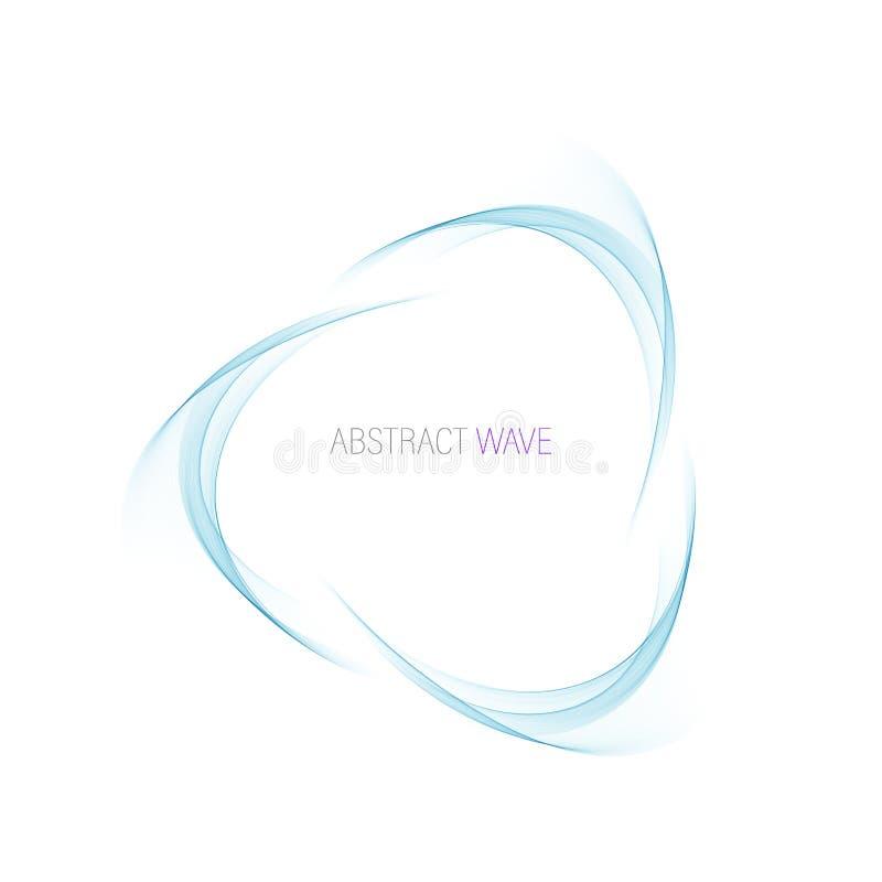 C?rculo azul abstracto del remolino Ejemplo del vector para usted dise?o moderno Marco o bandera redondo ilustración del vector