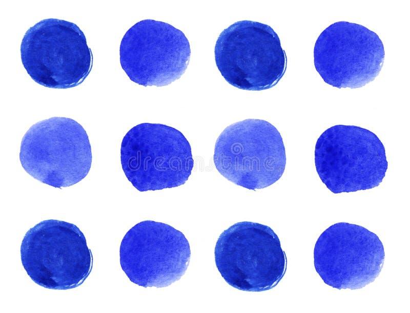 C?rculos azules en el fondo blanco ilustración del vector