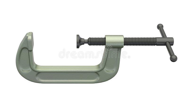 C-Rohrschelle stock abbildung