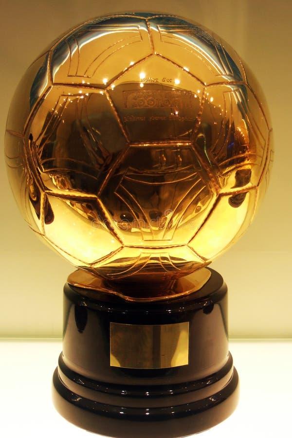 c ronaldo futbolowy złoty zdjęcie stock