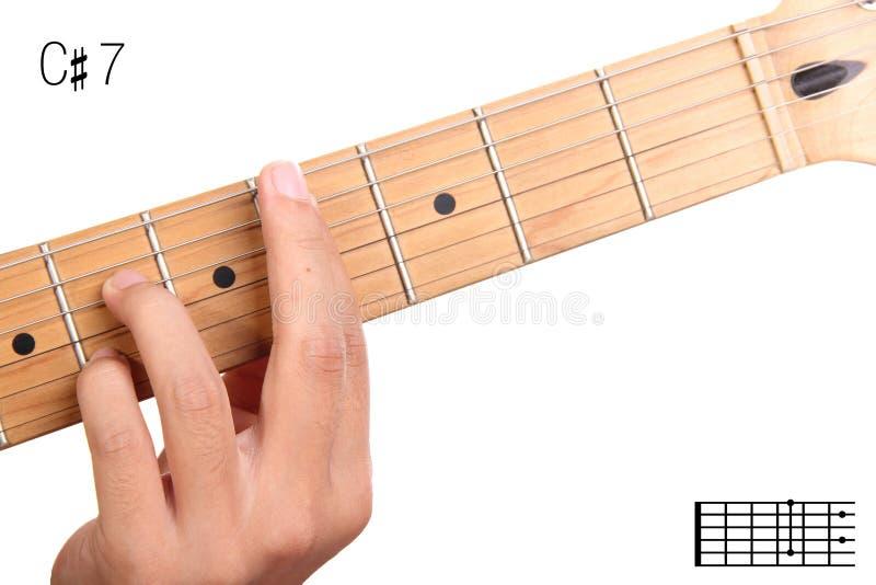 C Sharp Dominant Seventh Guitar Chord Tutorial Stock Photo - Image ...