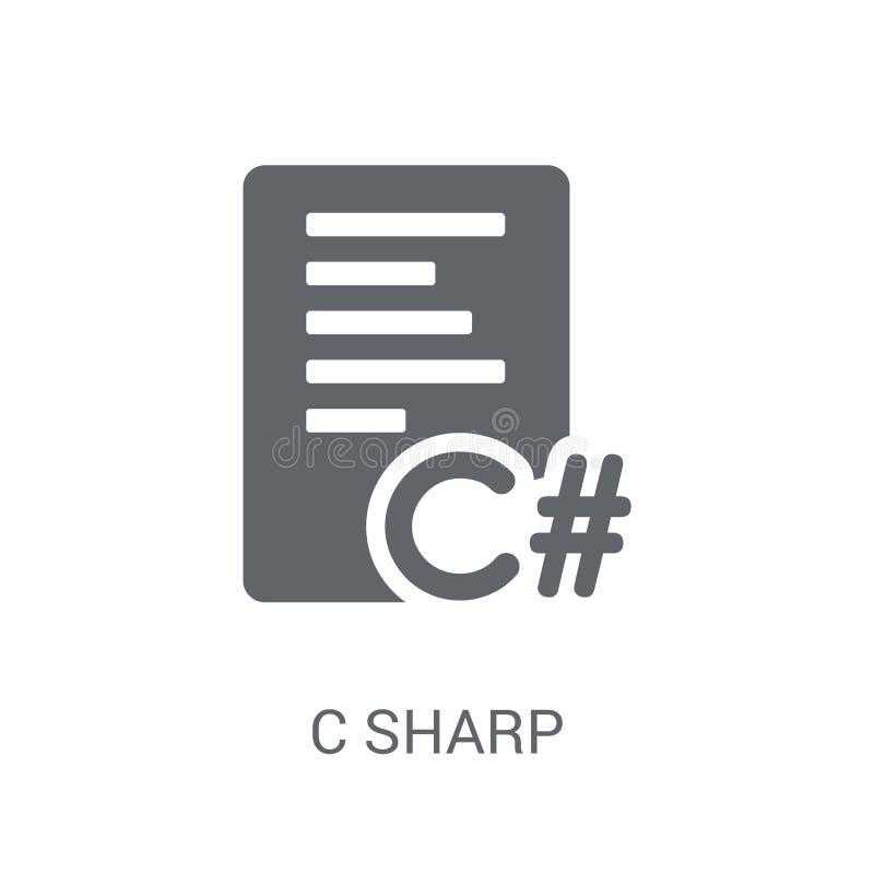 C sharp icon. Trendy C sharp logo concept on white background fr stock illustration