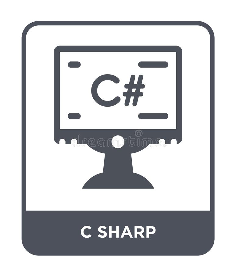 c sharp icon in trendy design style. c sharp icon isolated on white background. c sharp vector icon simple and modern flat symbol vector illustration