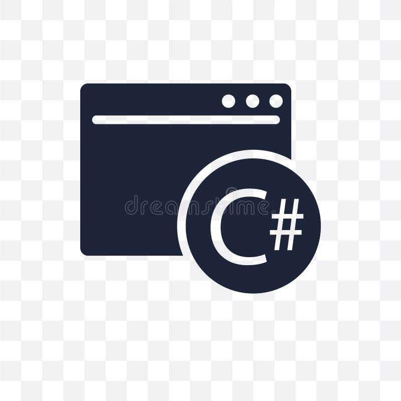 C sharp transparent icon. C sharp symbol design from Programming stock illustration