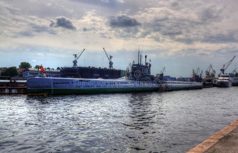 C-189 submersible dans le St Petersbourg, Russie images stock