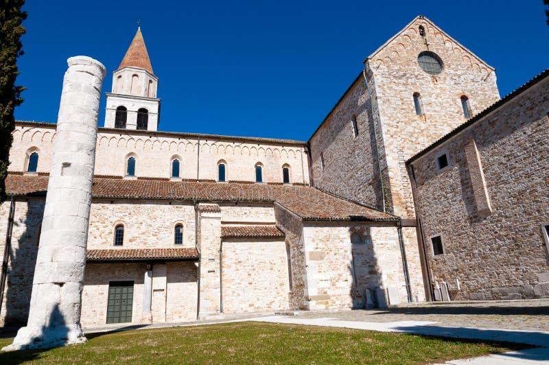 Côté de basilique d'Aquileia photographie stock libre de droits