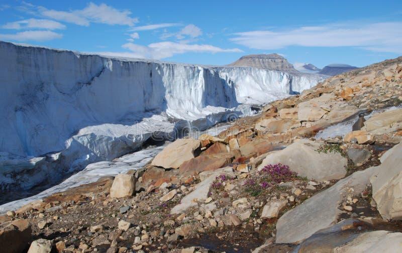 Côté de glacier de l'Armée de l'Air photo stock