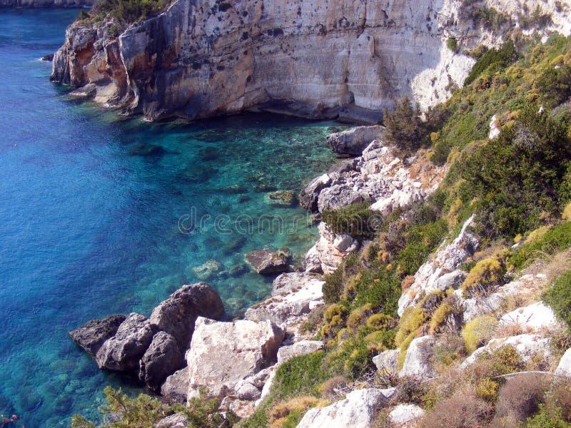 Côté de mer d'île photo stock