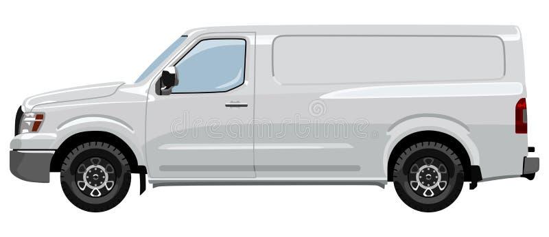 Côté du véhicule utilitaire léger illustration stock