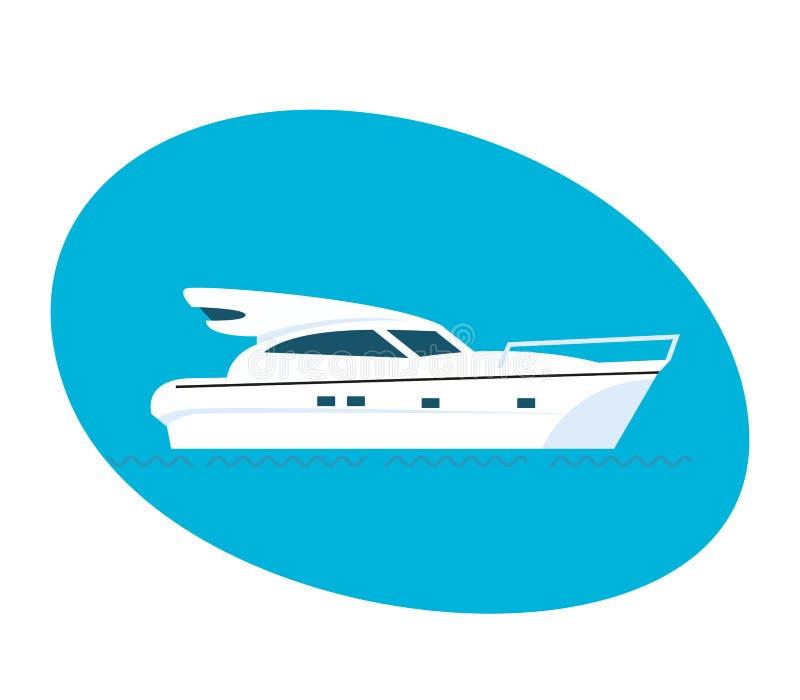 Côté moderne du bateau de passager illustration de vecteur