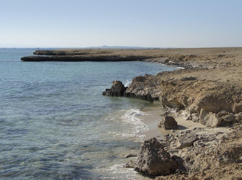 Côte à l'île de Giftun photographie stock