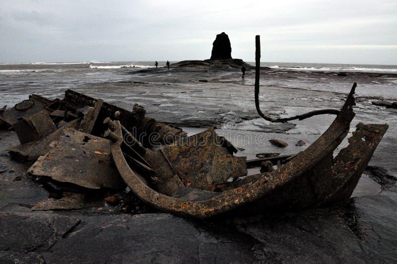 Côte Angleterre de North Yorkshire de baie de Saltwick photo libre de droits