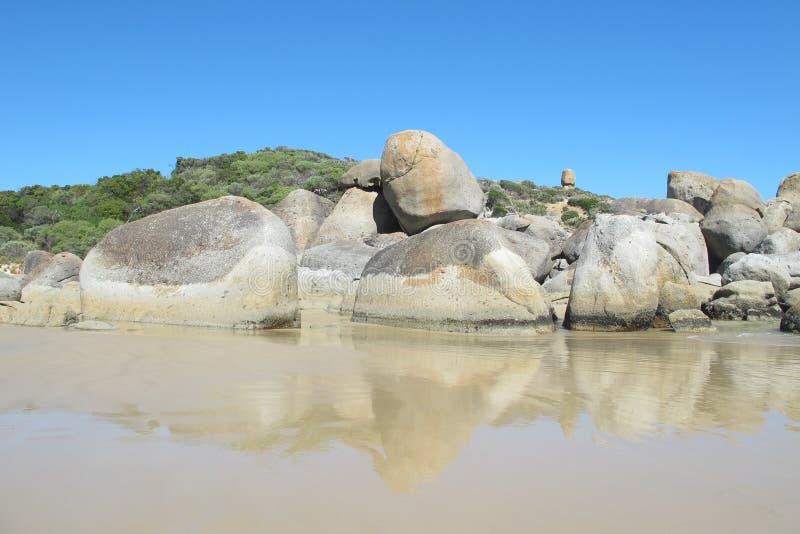Côte australienne en Wilson Promontory National Park image libre de droits