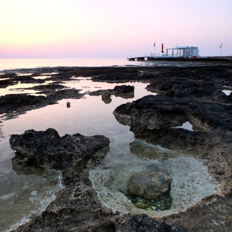 Côte Chypre de Protaras de début de la matinée photos libres de droits