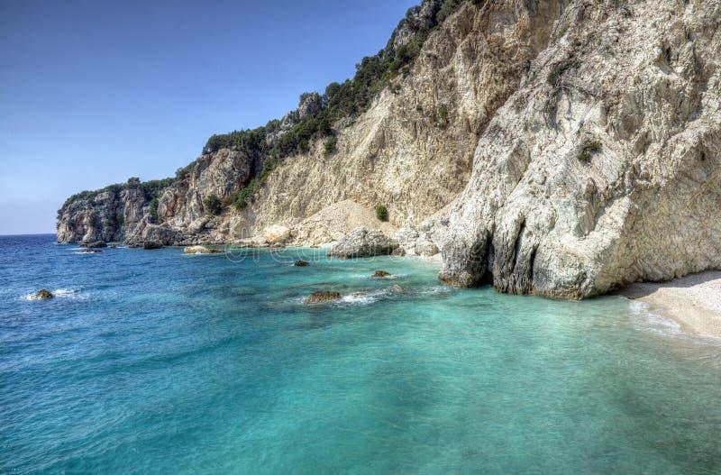 Côte d'île d'Ithaca, Grèce photo stock