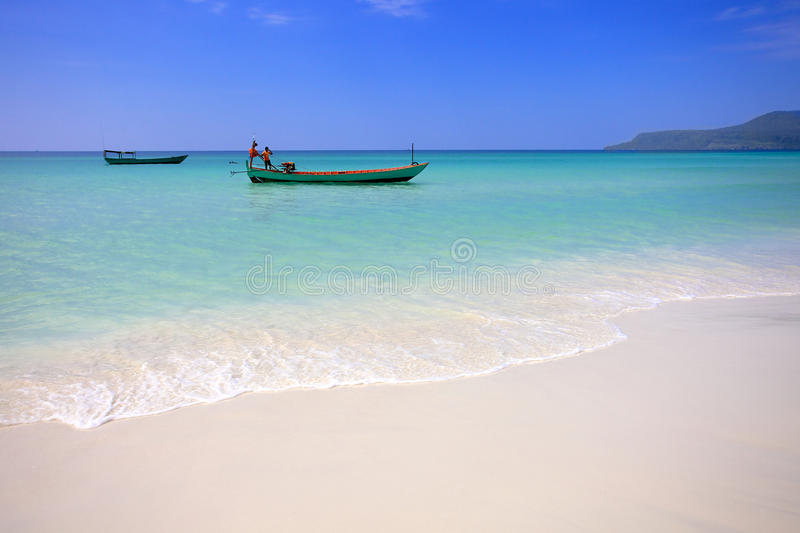 Côte d'île Koh Rong. Cambodge image stock