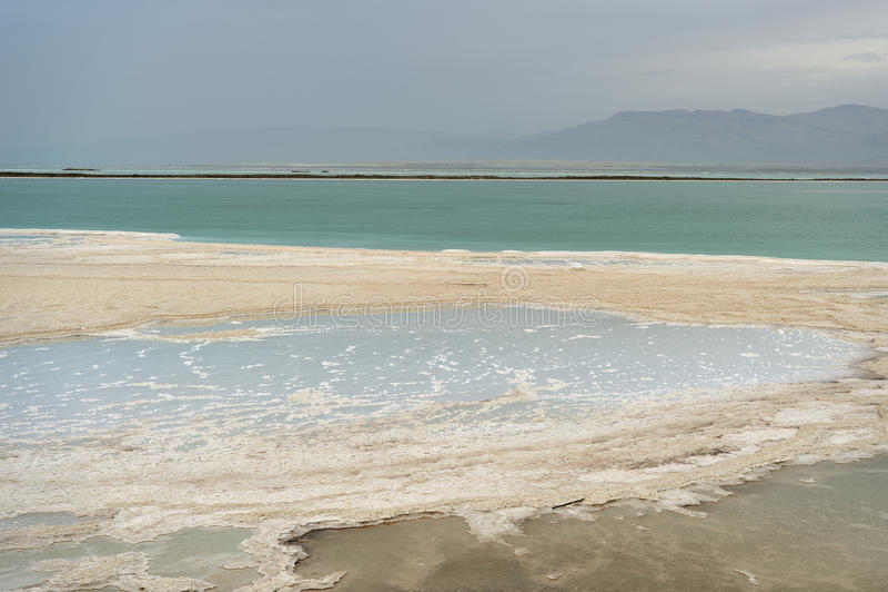 Côte de la mer morte image stock