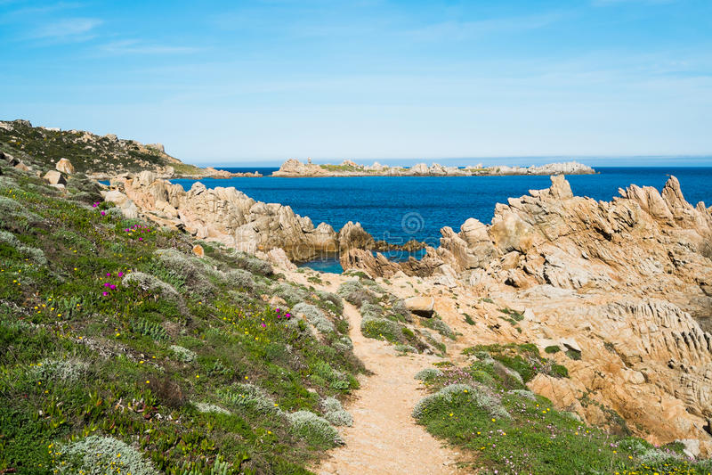 Côte de la Sardaigne photo libre de droits