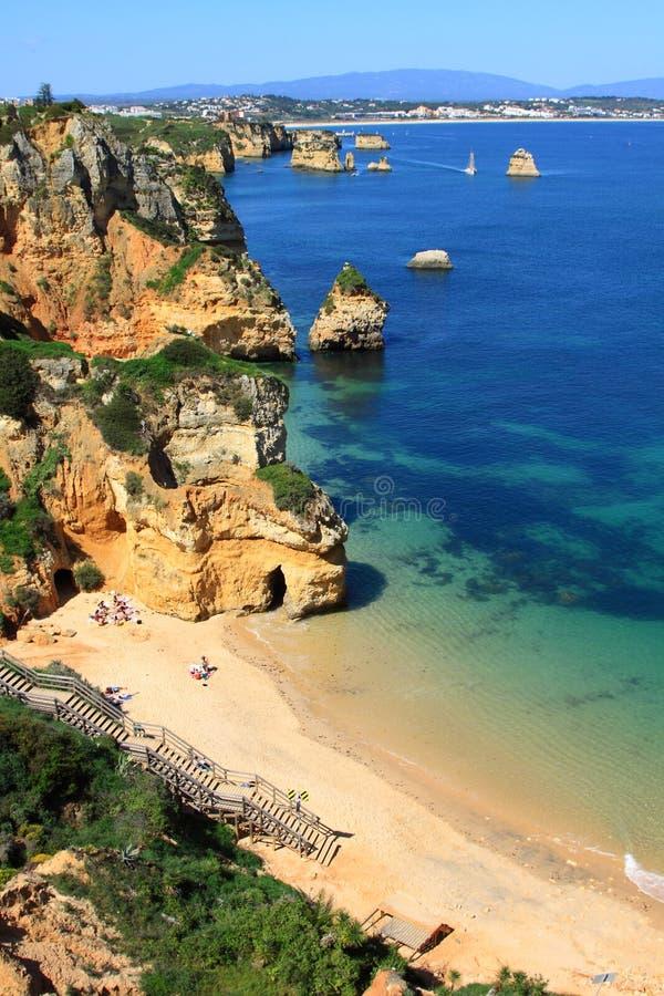 Côte de Lagos, Algarve au Portugal photographie stock libre de droits