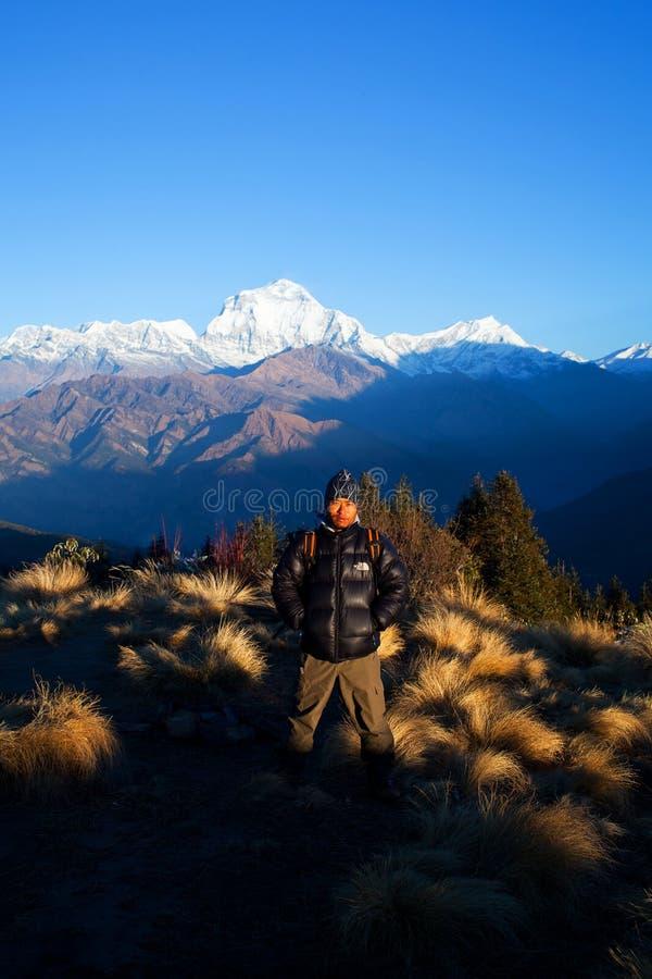Côte de Poon, Népal image stock
