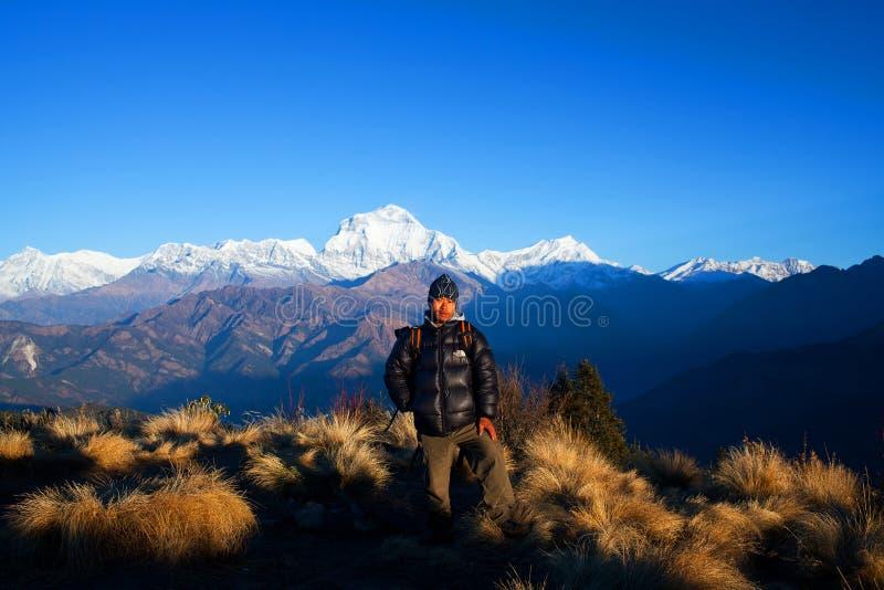 Côte de Poon, Népal photographie stock libre de droits