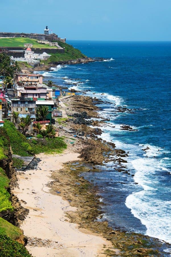 Côte de San Juan, Porto Rico image stock