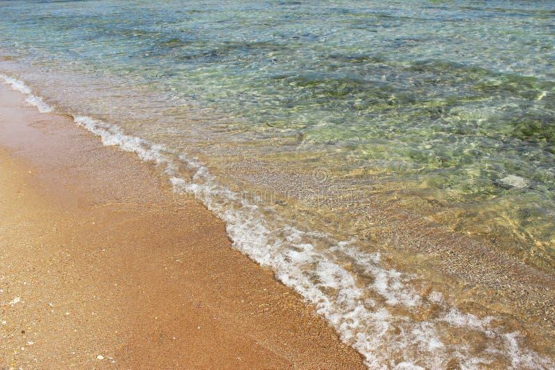 C?te de Sandy par la mer photos libres de droits