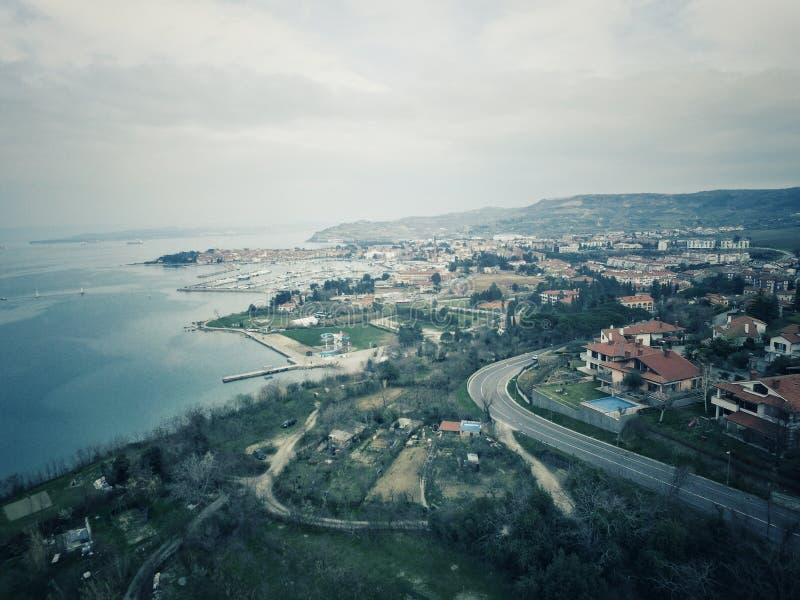 Côte de Slovène d'Izola photos stock