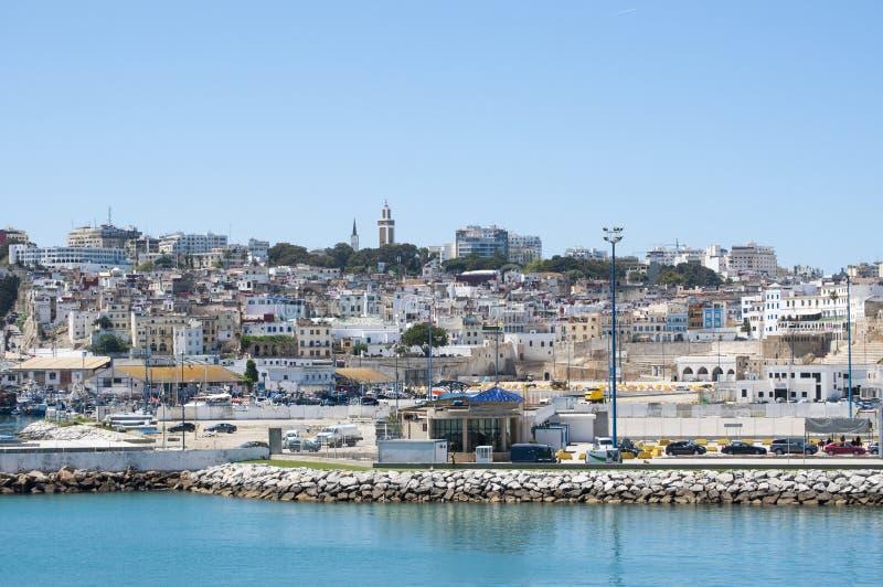 Côte de Tanger, Tanger, Tanger, Maroc, Afrique, Afrique du Nord, le Maghreb, détroit du Gibraltar, la mer Méditerranée, l'Océan A photos libres de droits
