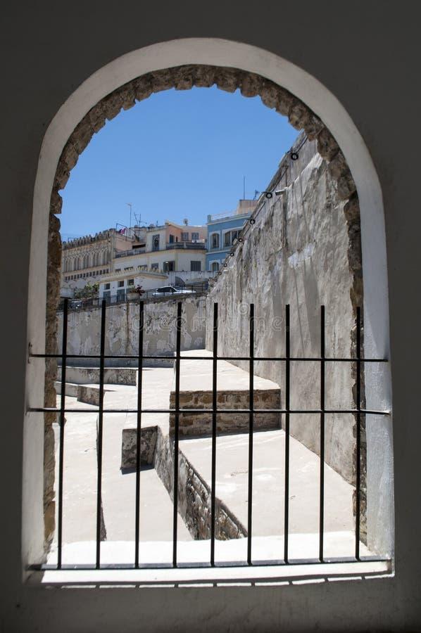 Côte de Tanger, Tanger, Tanger, Maroc, Afrique, Afrique du Nord, le Maghreb, détroit du Gibraltar, la mer Méditerranée, l'Océan A images stock