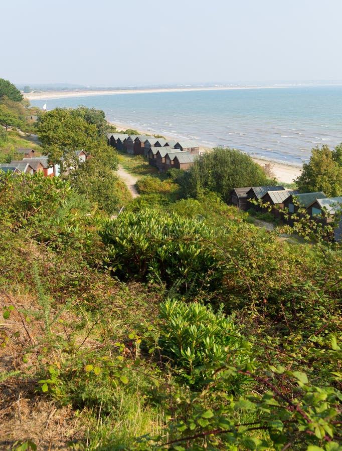 Côte et baie Dorset Angleterre R-U de Studland près de Swanage et de Poole photo libre de droits