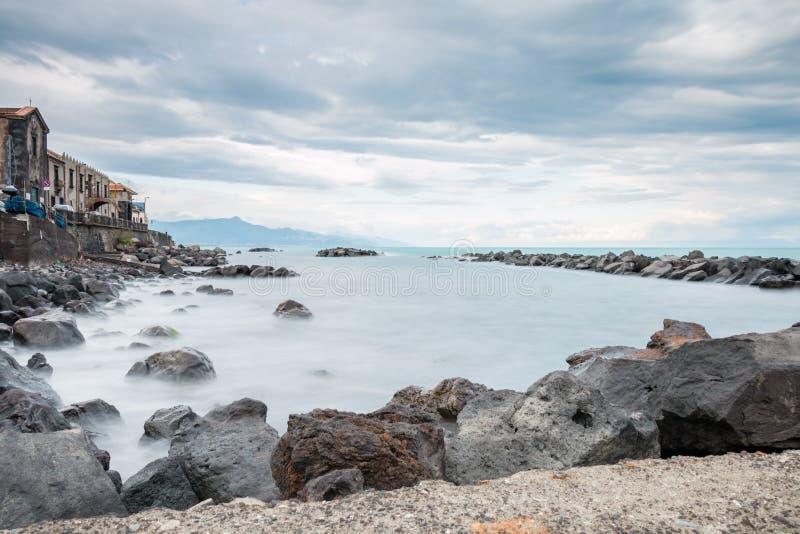 Côte ionienne de Riposto Sicile photographie stock