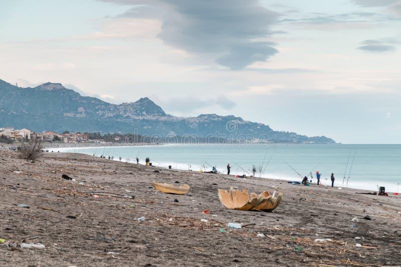 Côte ionienne de Riposto Sicile photo stock