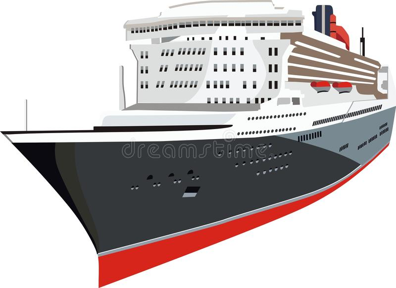 Côte Luminosa de bateau de croisière illustration stock