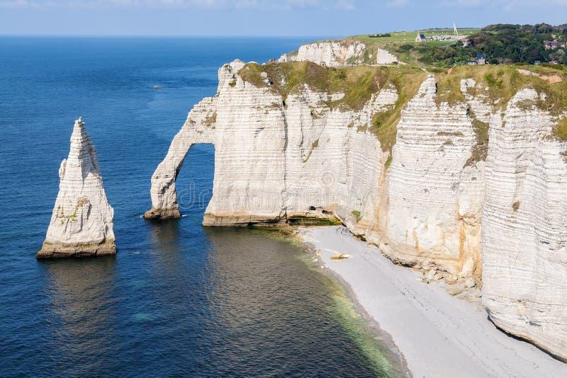 Côte Normandie d'albâtre image libre de droits