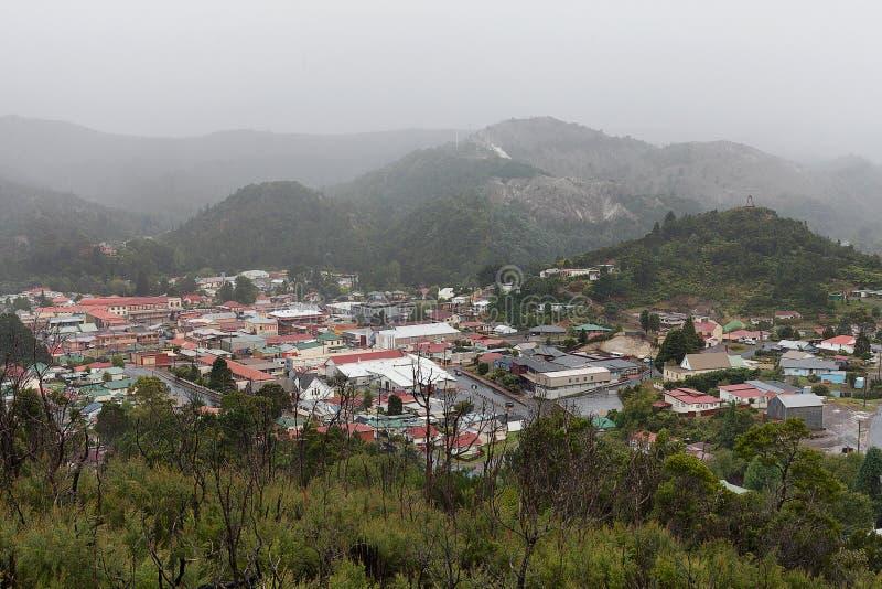 Côte ouest Tasmanie de Queenstown photos libres de droits